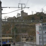 Bahnhof Baden mit Ruine Stein
