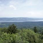 Aussicht über den Zürichsee zum Pfannenstiel