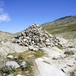 Steinhaufen-Pyramide