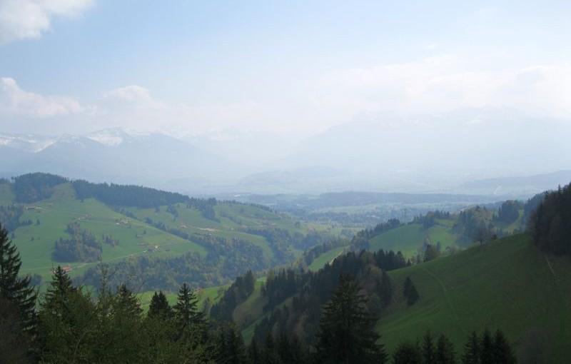 Grenzgebiet St. Gallen / Zürich: Höchhand, der scharfe Grat