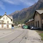 Der alte Bahnhof Messoco, einst Endstation.