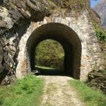 Tunnel der untergegangenen Bellinzona-Mesocco-Bahn