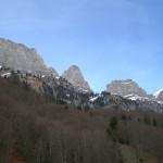 Blick auf die Churfirsten oberhalb der Alp Garadur