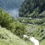 Kein Waldbrand sondern die Dampfbahn