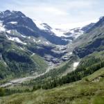 Unterhalb des Gletschers liegt das Ziel - der Lagh da Caralin