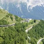 Rückblick zur Alp Grüm