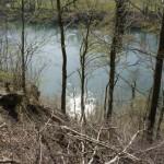 Tief unten schimmert der Rhein