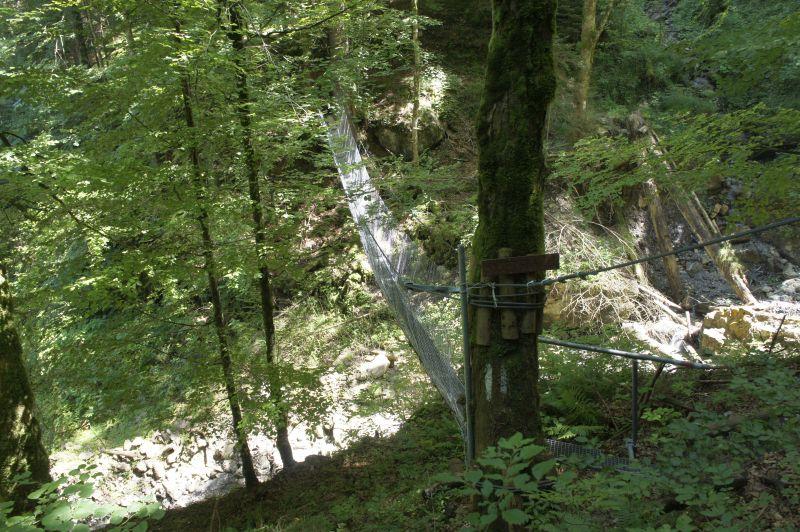 Gitterbrücke - da geht der Weg hinüber