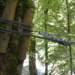 Aufhängung der Gitterbrücke