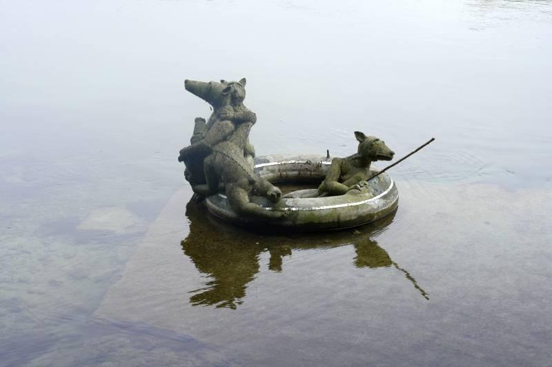 Kunst im Rhein
