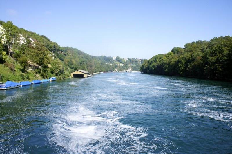 Der Rhein bei der Brücke Nohl - Dachsen