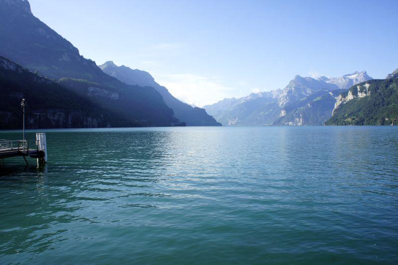 Wanderstart am See