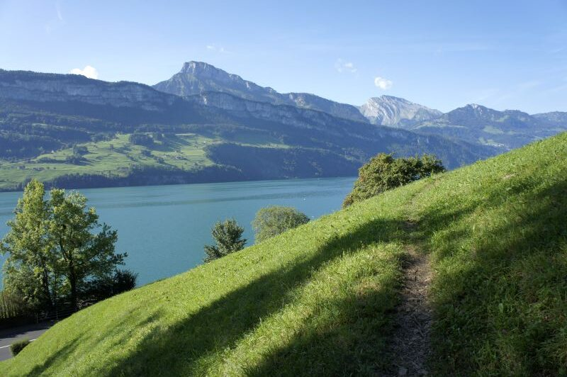 Dem See entlang Richtung Gersau