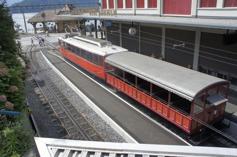 Historischer Panoramawagen der Vitznau-Rigi-Bahn